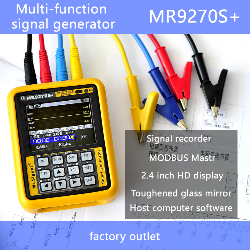 4 20mA signal generator calibration Current voltage PT100 thermocouple Pressure transmitter Logger PID frequency MR9270S