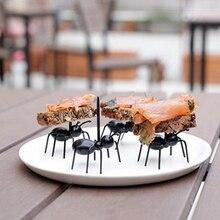 12pcs/set Hot Sale Ant Shape Fruit Fork Snack Cake Dessert Pick Tableware Home Kitchen Party Dinner Accessory