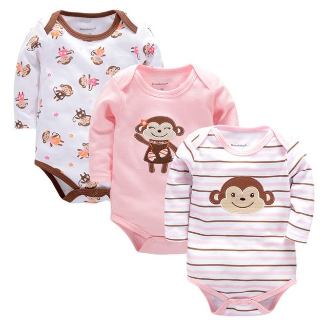 100% Algodón Recién Nacido Ropa Para Bebés de Algodón 3 ...