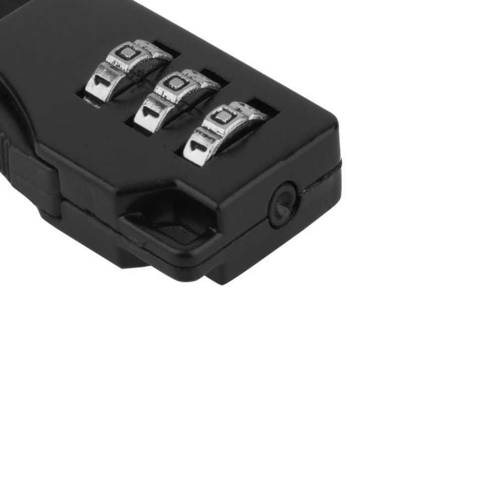 3 kombinacja cyfr hasło bagaż zamek szyfrowy Mini walizka blokada kłódki podróżnej