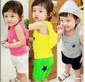 Summer new casual hooded track suit two sets  kids boys clothes