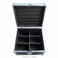 Flight Case With 8 Pieces Wireless Remote Control LED Par 7x12W RGBW 4IN1 Uplighting With 8