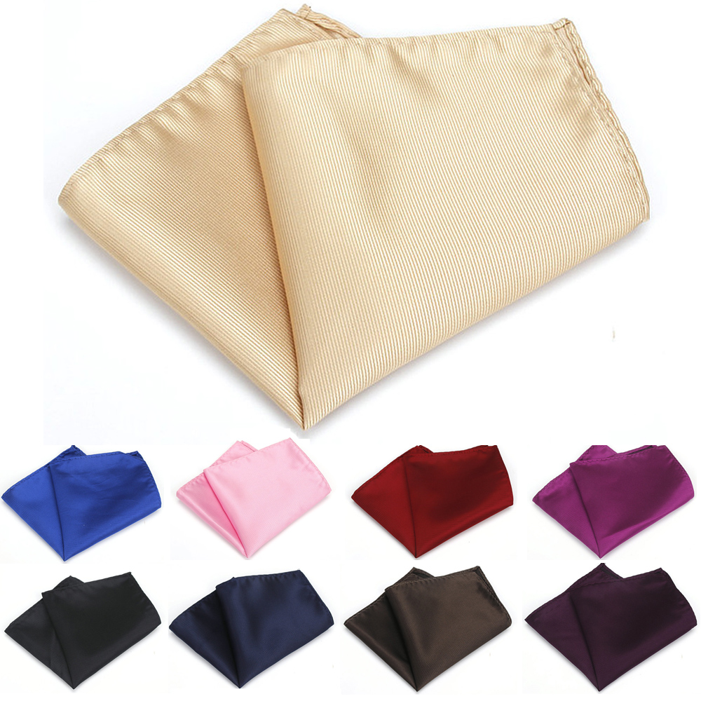 Men Formal Striped Handkerchief Hanky Party Wedding Business Pocket Square NEW YFTIE0386