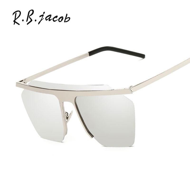 2017 New Fashion Hollow Women Sunglasses Mirror Men Brand Designer Lady Female Sun glasses UV400 Rimless Pilot Steampunk Vintage