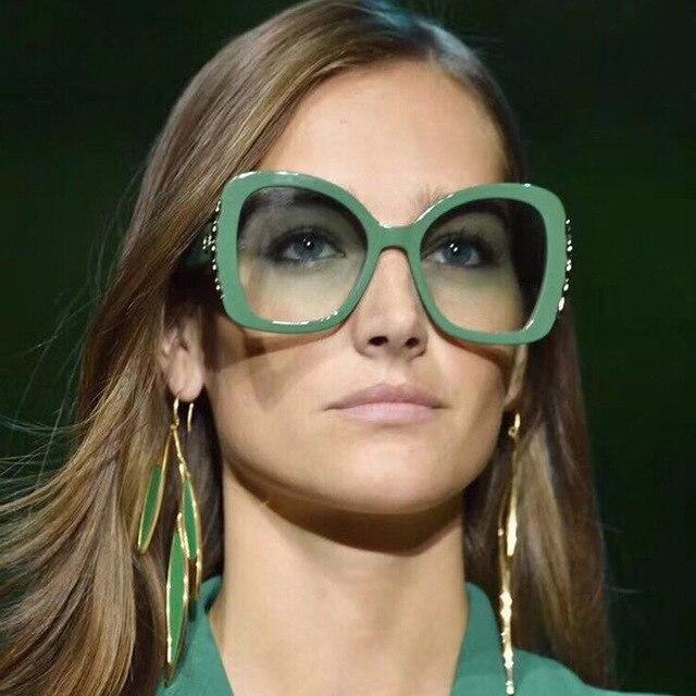 61ce3574ca Vazrobe Oversized Sunglasses Women Vintage Sun Glasses for Woman Luxury Kim  Kardashian 80s Orange Red Green