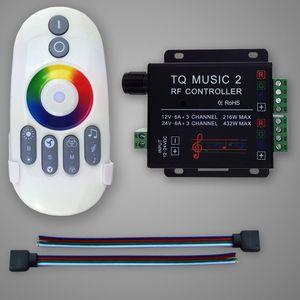 Image 3 - Commande Audio avec télécommande sans fil RF, musique pour bande LED LED de contrôle, 5050, 3528, 5630, 2 canaux RGB, DC 12 24V 18A