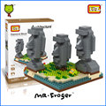 Mr.Froger LOZ Diamond Block Easter Island World Famous Architecture DIY Plastic Building Bricks Educational Toys For Children