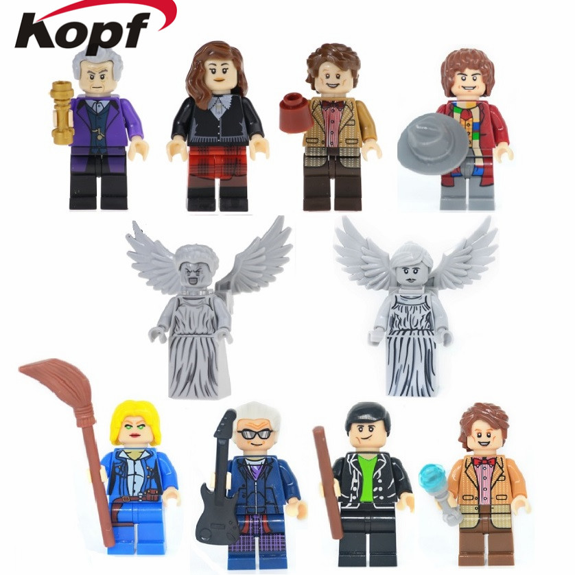 Super Heroes Dr. Who Peter Capaldi River Song Weeping Angel Two-Face Firestorm Captain America Building Blocks Kids Gift Toys image