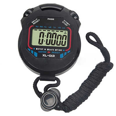 La vida a prueba de agua Digital LCD de cronómetro cronógrafo temporizador contra deportes alarma Erkek Kol Saat DE COSER tejer anillo dedo contra