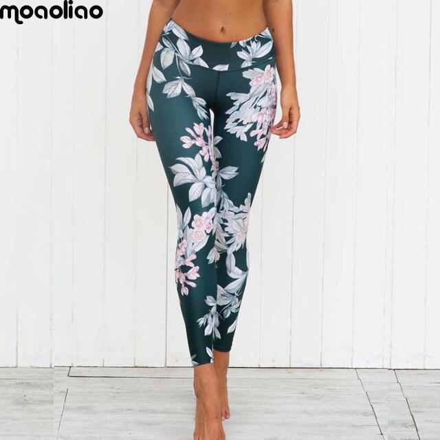 b2e33cd65 Gráfico da flor esporte exercício de treinamento de fitness yoga legging  das mulheres calças workout gym