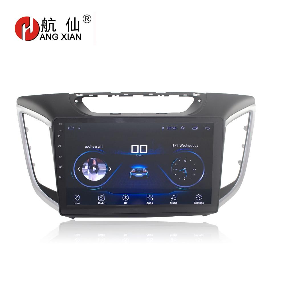 HANG XIAN 9 Quadcore Android 8.1 Car radio for Hyundai CRETA ix25 2015 2016 car dvd player GPS navigation car multimedia коврики в салонные ниши синие ix25 для hyundai creta 2016