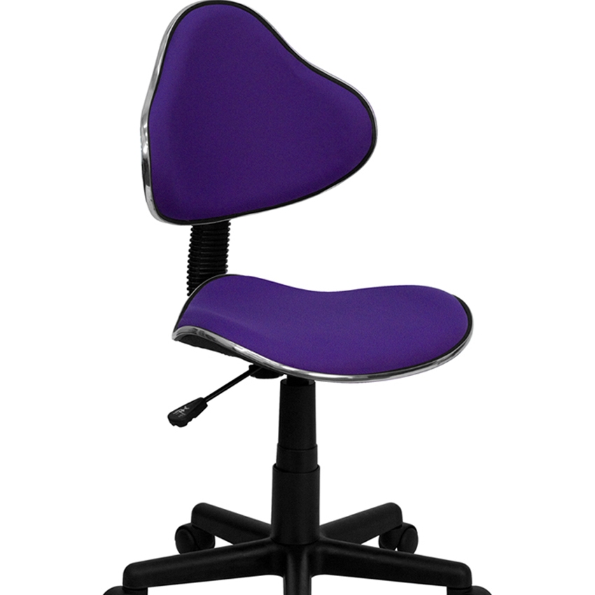 Флэш-мебель пурпурные ткани эргономичный стул [863-BT-699-PURPLE-GG]