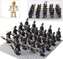 42PCS/LOT Skeleton Knights Medieval Castle Knights Skeleton Knights legoingly Building Bricks Blocks Toys Children Gifts(China)