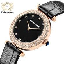 GW1167 SHARLIS Impermeable Sencillo Encanto Pulseras de Reloj de Las Mujeres de Cuero de Moda Reloj de pulsera de Cuarzo Ocasional Relojes Relogio Feminino