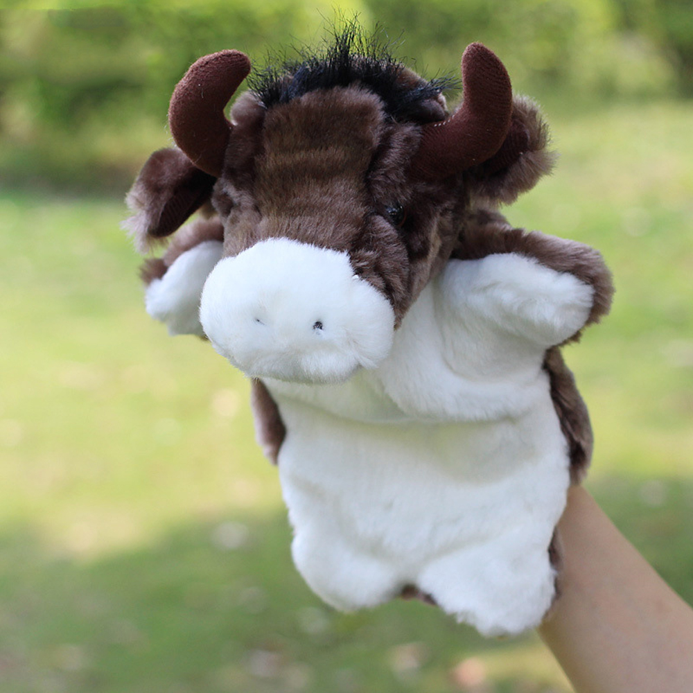 Bolafynia Children Hand Puppet Toys Buffalo Cow Two Kinds Baby Kid