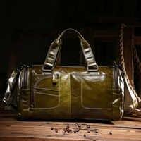 Unisex Öl Wachs Echtem Leder Umhängetasche trend Handtasche Vintage berühmte marke Messenger Schulter reisetaschen Leder Tasche