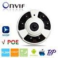 Fisheye Panorama IP Camera 720 P 960 P 1080 P 2MP IP POE Câmera de Largura ângulo de 360 Graus Indoor Dome IP CAM Night Vision 6 pcs IR LEDs