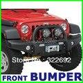 OEM Preto Frente Offroad Winch Bumper Guarda Escova de Aço Para Jeep Wrangler JK & Ilimitado JK 2007 up