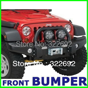 OEM Steel Black Front Offroad Winch Bumper Brush Guard For Jeep Wrangler JK  U0026 Unlimited JK