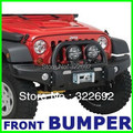 OEM de Acero Frente Negro Offroad Winch Bumper Brush Guard Para Jeep Wrangler JK y Ilimitado JK 2007 up