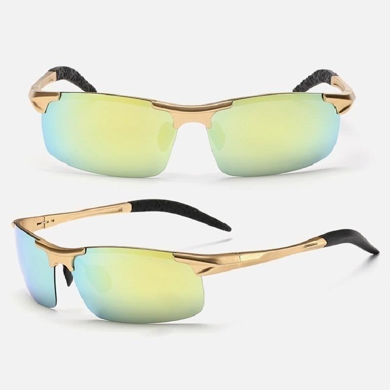 2017 New fashion style Polarized Sunglasses Men Brand Designer Male Vintage Gold frame Len Eyewear gafas Driving Outdoor glasses электроинструмент dewalt dw217