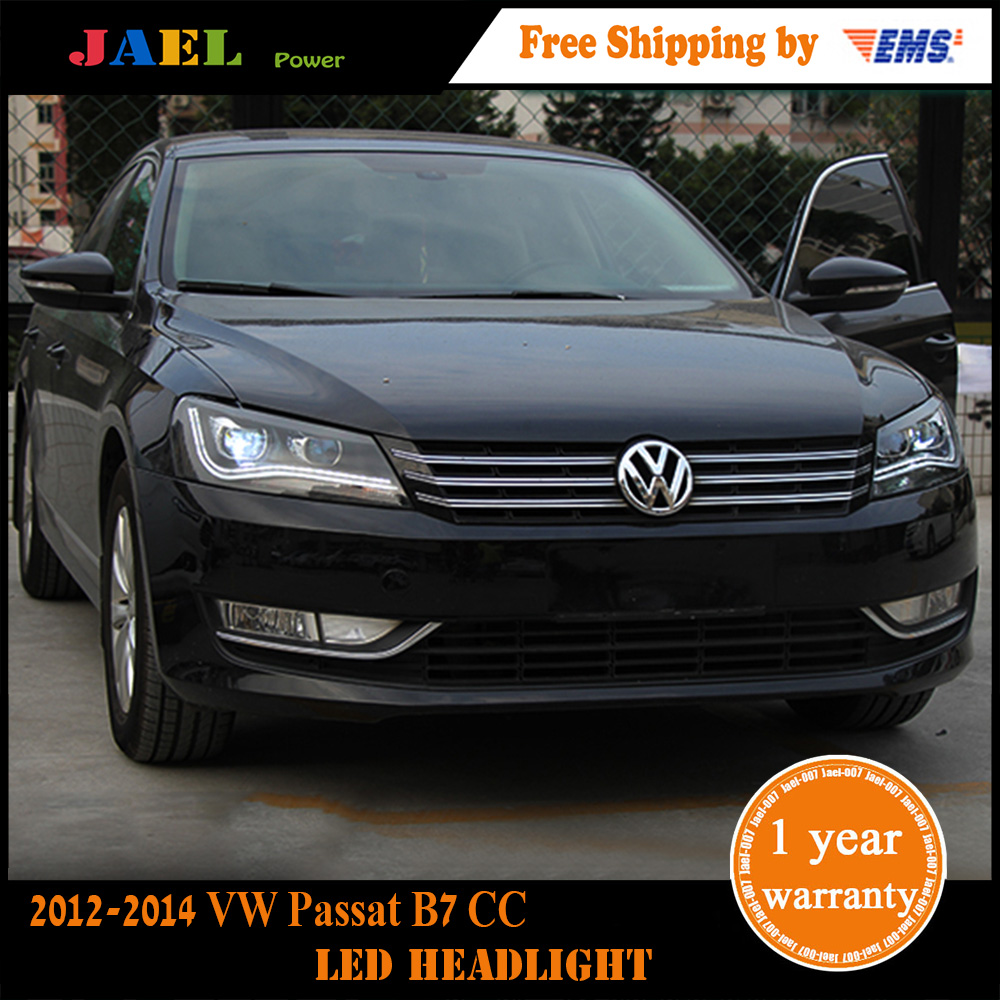 Jael Head Lamp VW Passat B7 Headlights 2012-2014 VW Passat CC LED Headlight DRL Bi Xenon Lens High Low Beam Parking Fog Lamp