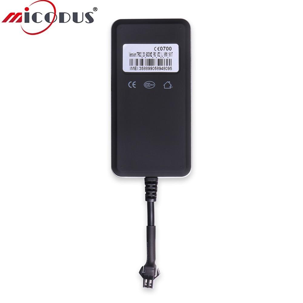 Traqueur de voiture GPS 9-36 V Circuits de moniteur DC alarme GSM GPRS localisateur de suivi de véhicule TR02 réseau de indicateur LED en temps réel quadri-bande