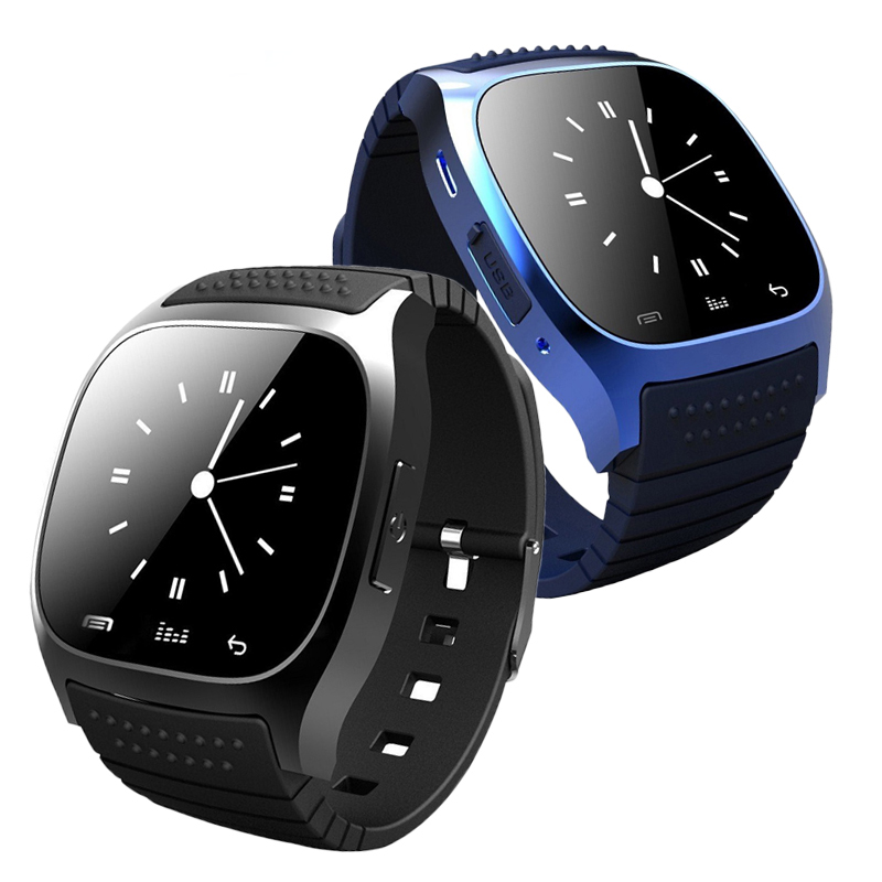 M26 Bluetooth Smart Watch Wristwatch Smartwatch with Dial SMS Remind Music Player Pedometer for Android Samsung Smartphones