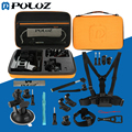 PULUZ 20 in 1 Accessories Combo Kit with Orange EVA Case for GoPro HERO5 / HERO4 Session / HERO 5 / 4 /3+ / SJ4000