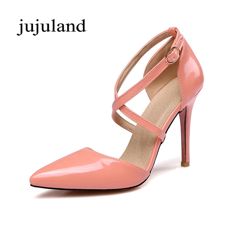 Spring/Autumn Women Pumps Women's Shoes Buckle Strap High Heel Thin Heels Pointed Toe Casual Fashion Cross-tied Shallow Solid cicime women s heels thin heel spikes heels solid slip on wedding fashion leisure casual party dressing high heel platform pumps