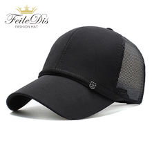 [FEILEDIS]Men Women Summer Snapback Quick Dry Mesh Baseball Cap Sun Hat Bone Breathable Trucker Hats JMM-39