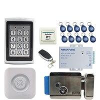JEX металла Водонепроницаемый Подсветка кнопку RFID пароль доступа Управление Лер двери Управление системы kit + дверной звонок + E lock бесплатная