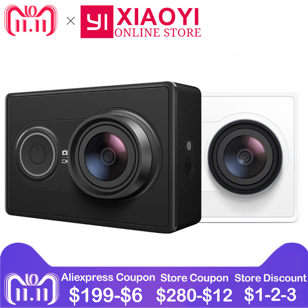 цена на [International Edition]1080P YI Action Camera Xiaomi Sports Camera WiFi 3D Noise Reduction 16MP Full HD 60FPS Ambarella A7LS
