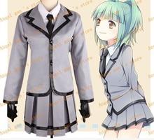 Free shipping Assassination Classroom Taketatsu Ayana Uniform Full Set Cosplay Costume