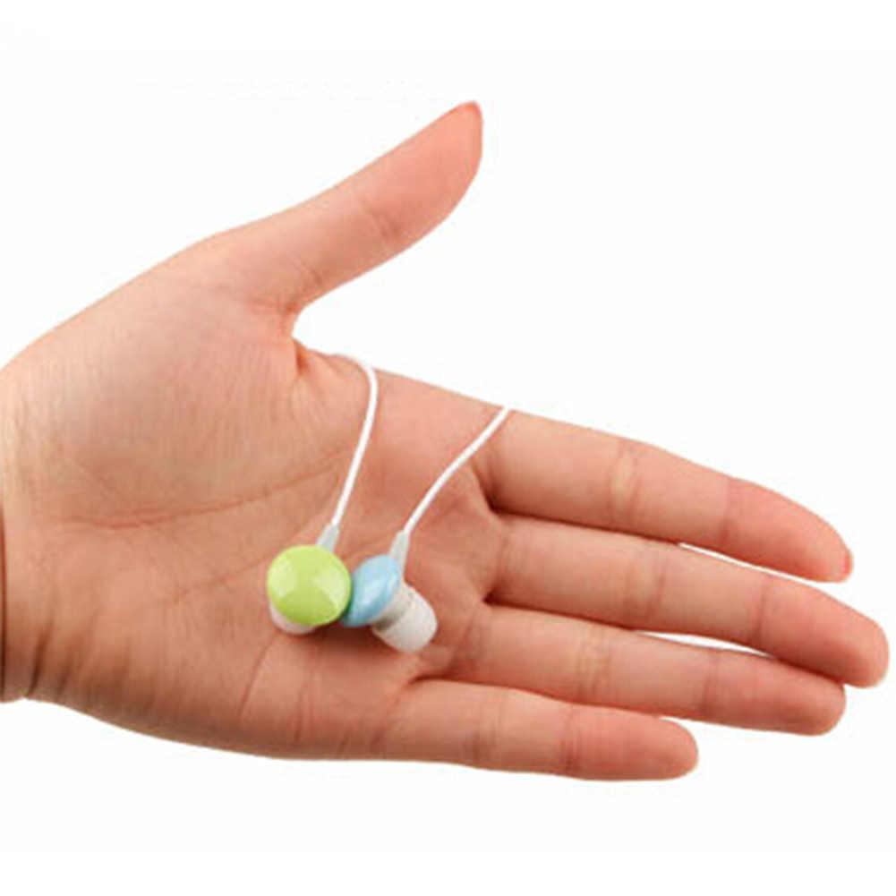 جديد السفر المحمولة في الأذن سماعة أذن 3.5 مللي متر كاندي الألوان سماعة الأذن للهواتف الكمبيوتر الوسادة PC MP3 MP4 لاعب لون عشوائي
