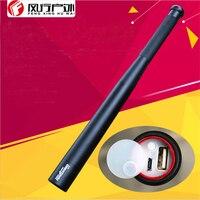 Hunting camping Flashlight Tactical Security Stick T6 XML LED baton power bank USB phone Charger 18650 Patrol Self defense lamp