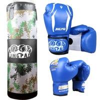 Adult Boxing Gloves Kids Boxing Gloves 1pc Empty Sandbag 100cm Training Fitness MMA Fighter Boxing Bag