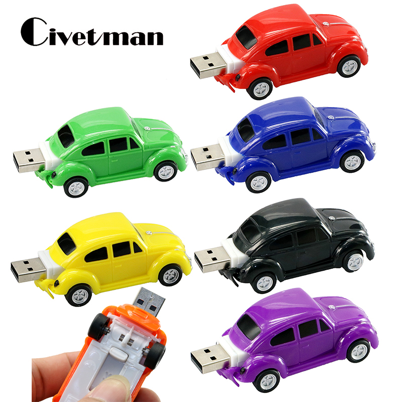 Creative Pendrive Germany Beetle Car Pen Drive 8GB 16GB USB Flash 32GB Memory Disk 128GB USB Flash Drive Mini Car Memory Stick creative teeth style usb 2 0 flash drive white 16gb