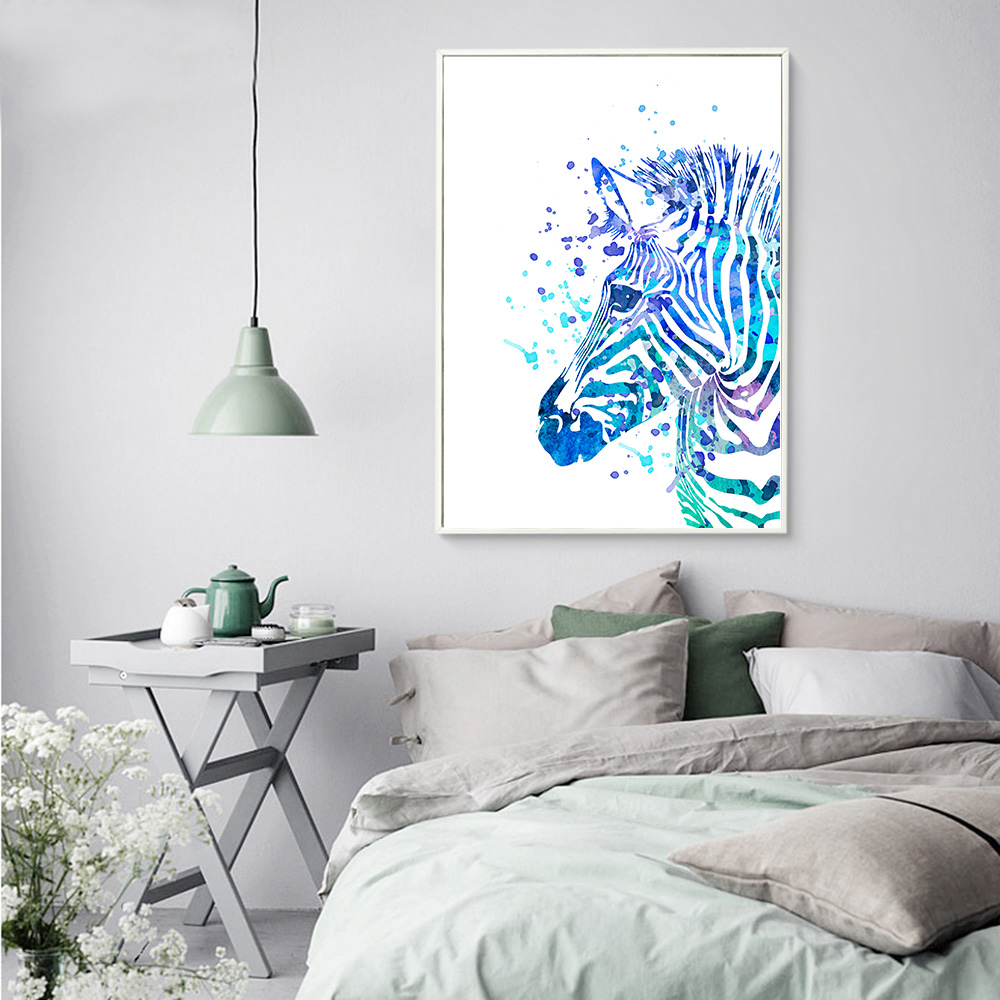 Watercolor animals zebra elk dinosaur canvas painting poster and watercolor animals zebra elk dinosaur canvas painting poster and print world map wall picture for kids room wall art decoration in painting calligraphy gumiabroncs Images