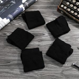 Image 4 - Emilback marca Clássico 5 PRS/Lote Black Dress Negócios meias de Algodão para Homens & Mulheres 200N malha de Alta Qualidade macio e confortável