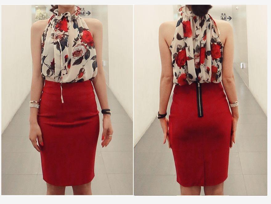 HTB1vOpsIVXXXXXUapXXq6xXFXXXL - New Fashion Women Sleeveless Chiffon Floral Print Blouses Tops Shirt