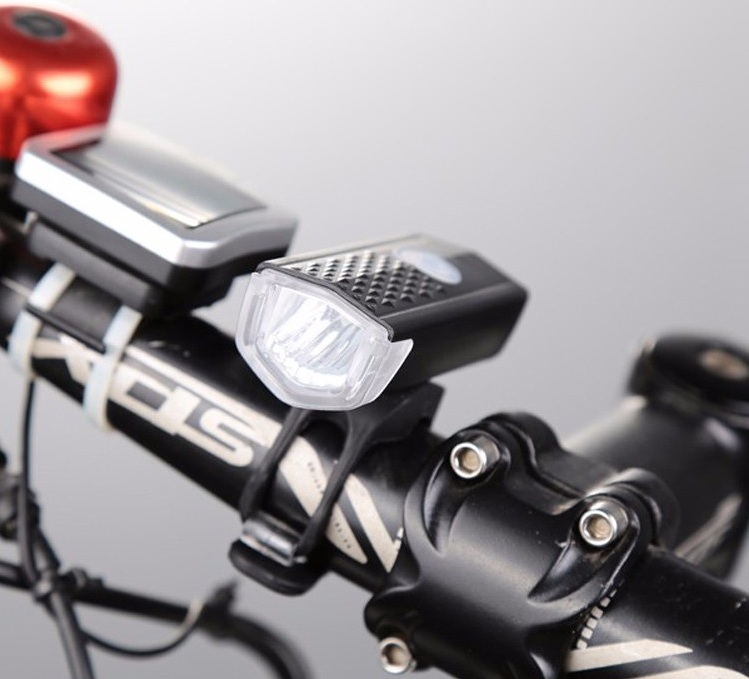 300LM MTB Bike Bicycle Cycling USB Rechargeable LED Head Front Light Lamp Black