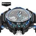 Sanda homens relógio g estilo de moda à prova d' água led sports relógios militares dos homens de choque analógico digital de quartzo relógio masculino 289
