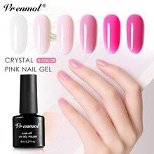 Vrenmol, 6 цветов, розовая серия, французский маникюр, лак для ногтей, УФ-гель для дизайна ногтей, лак, гибридный, телесный, сахарный, краски, акриловый клей для ногтей