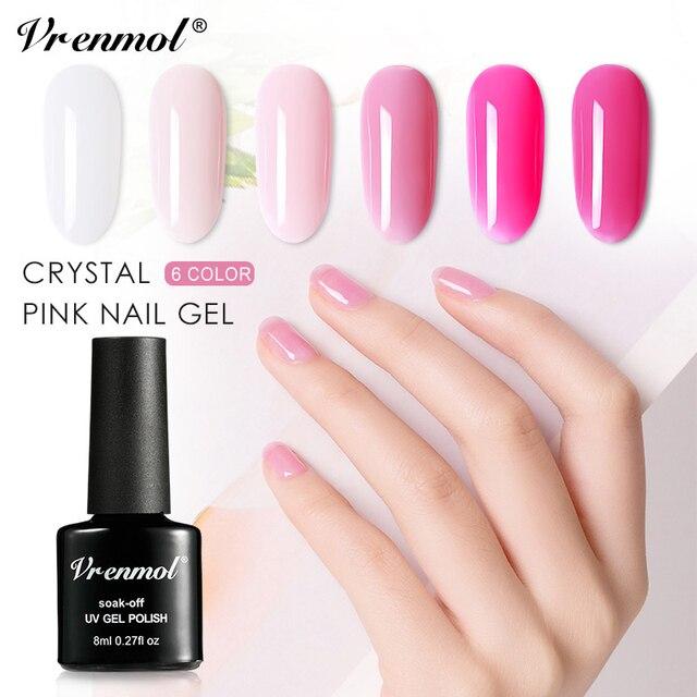Inteligentny Vrenmol 6 kolory różowy serii francuski lakier do paznokci do HN36