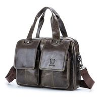 Classic Design Large Size Genuine Leather Briefcases Men Casual Business Man Bag Office Briefcase Bags Laptop