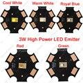 10x LUMILEDS LUXEON Rebel 1 W 3 W LED de alta potência de diodo emissor de luz, Branco quente vermelho verde azul cor 20 mm PCB