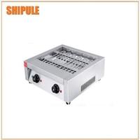Free shipping ~220v Electric Three Plate Takoyaki Machine With Non stick pan