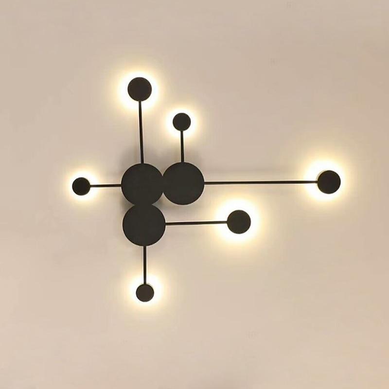 Black Gold White LED Wall Lamp For Living Room Bedroom Bedside Nordic Decoration Designer Corridor Hotel