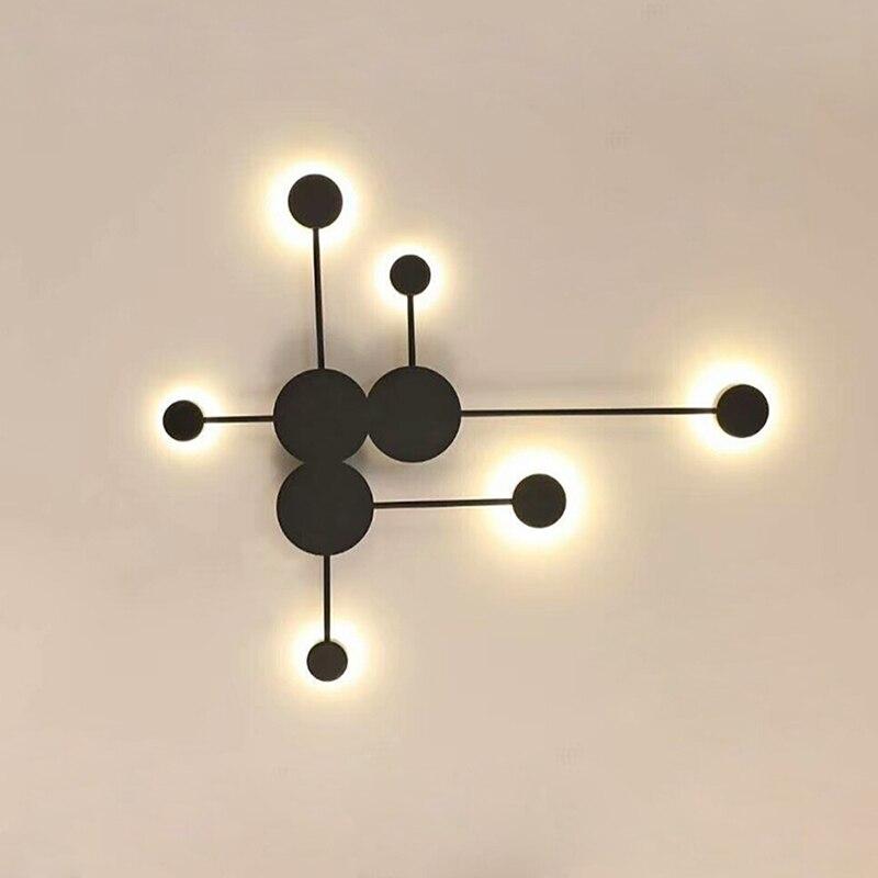 Black/Gold/White LED Wall Lamp For Living Room Bedroom Bedside Nordic Decoration Designer Corridor Hotel Wall LightsBlack/Gold/White LED Wall Lamp For Living Room Bedroom Bedside Nordic Decoration Designer Corridor Hotel Wall Lights